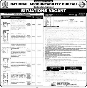 NAB Jobs Islamabad HQ