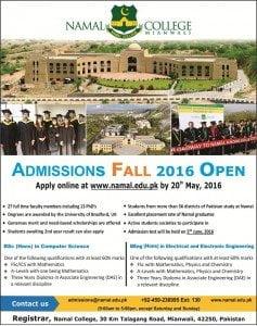 namal college 2016