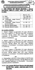 spsc headmaster jobs mcqs past papers