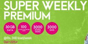 zong super weekly premium package